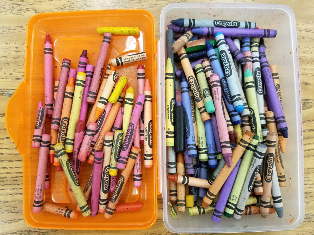 Teaching warm and cool colors with a color sort