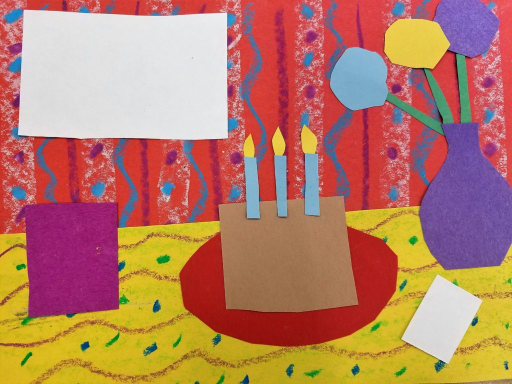 How to collage a still life of a special day