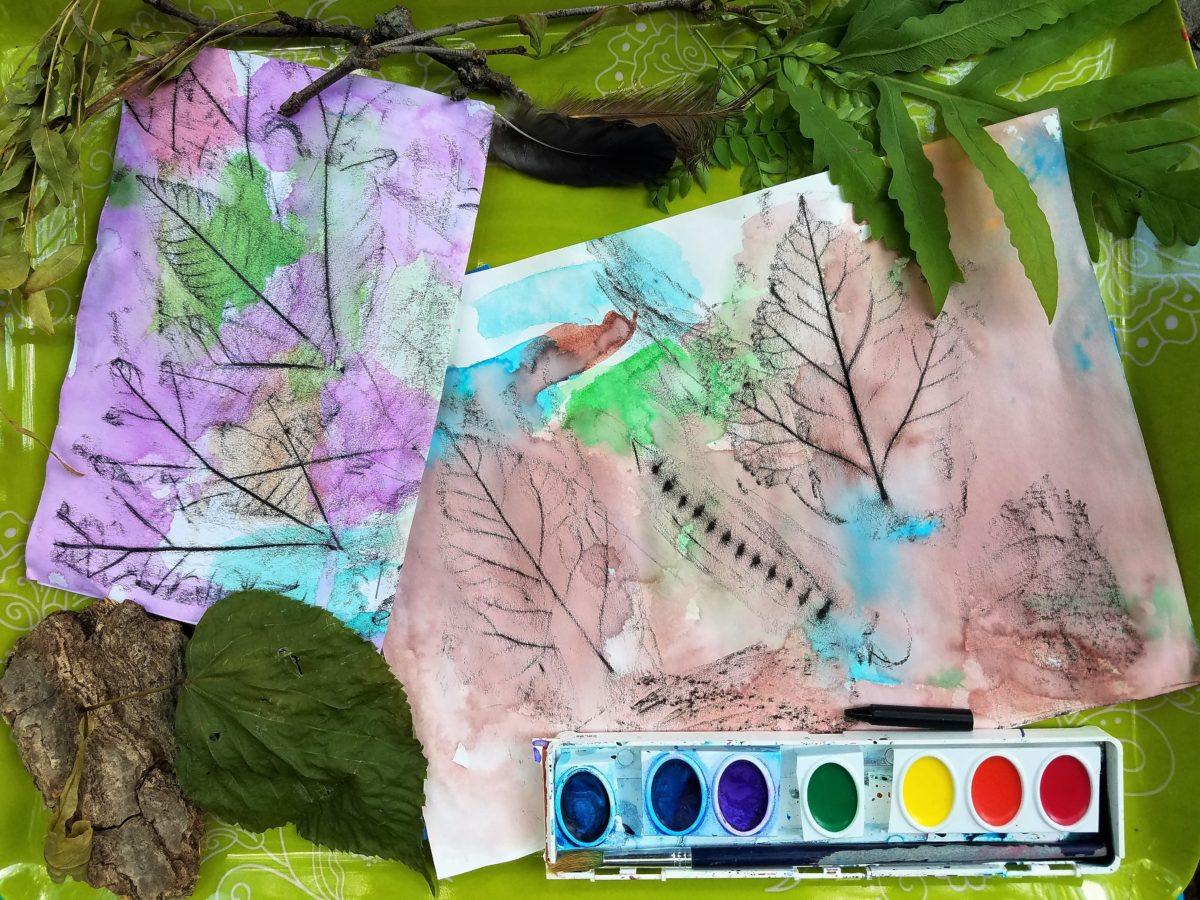 Create a Leaf Rubbing to Remember a Nature Walk - The