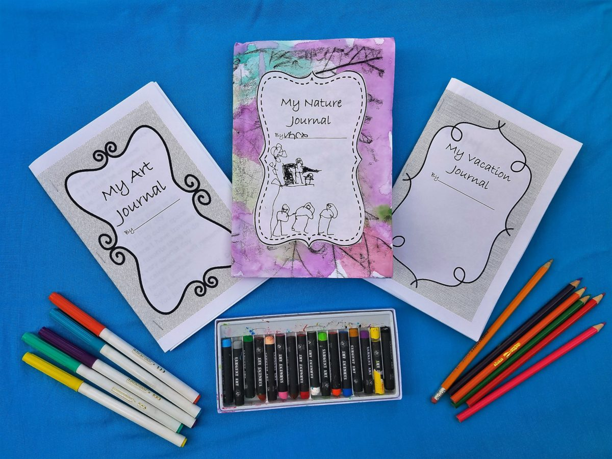 Art journal starter kit: Create art journals for kids with free printable covers and drawing prompts