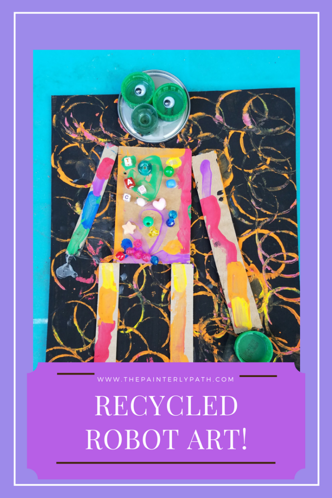 Recycled Robot Art To Teach Shapes To Kids The