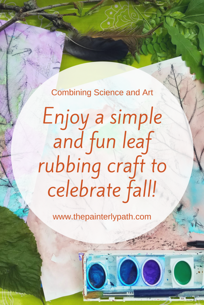 Enjoy a simple and fun leaf rubbing craft to celebrate fall with your young artist.  This craft incorporates art and science using a few simple materials.  The post explores ways to incorporate art in nature exploration.