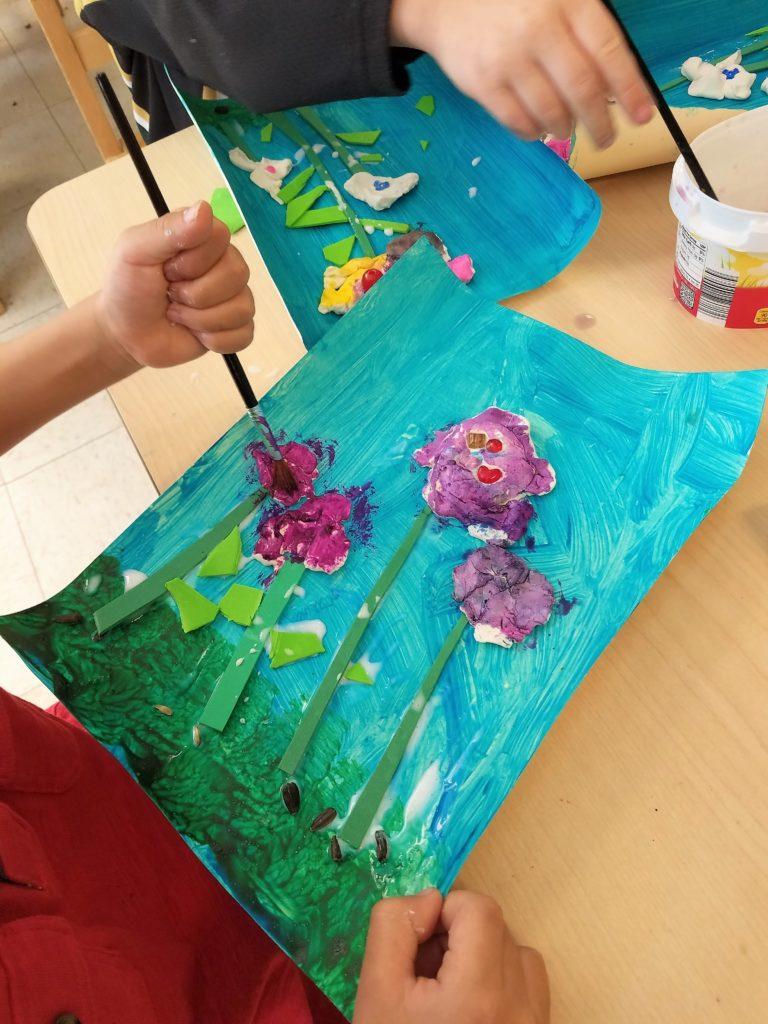 Painting model magic flowers