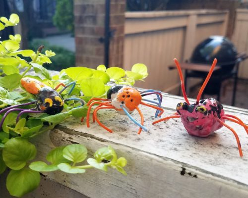 Create clay bugs with air dry clay