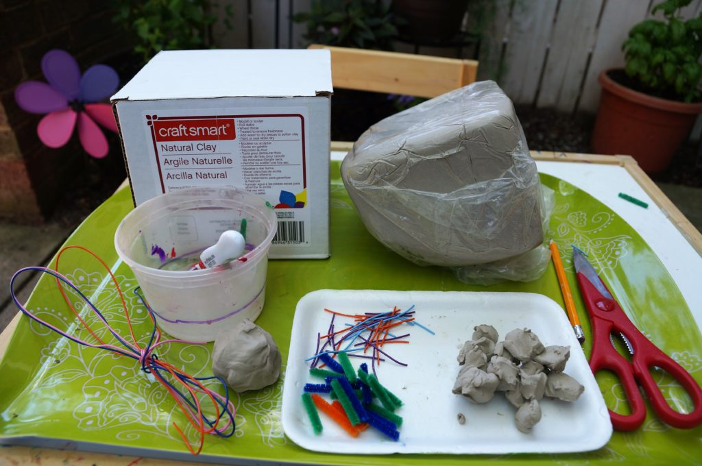 clay bug sculptures created with air dry clay