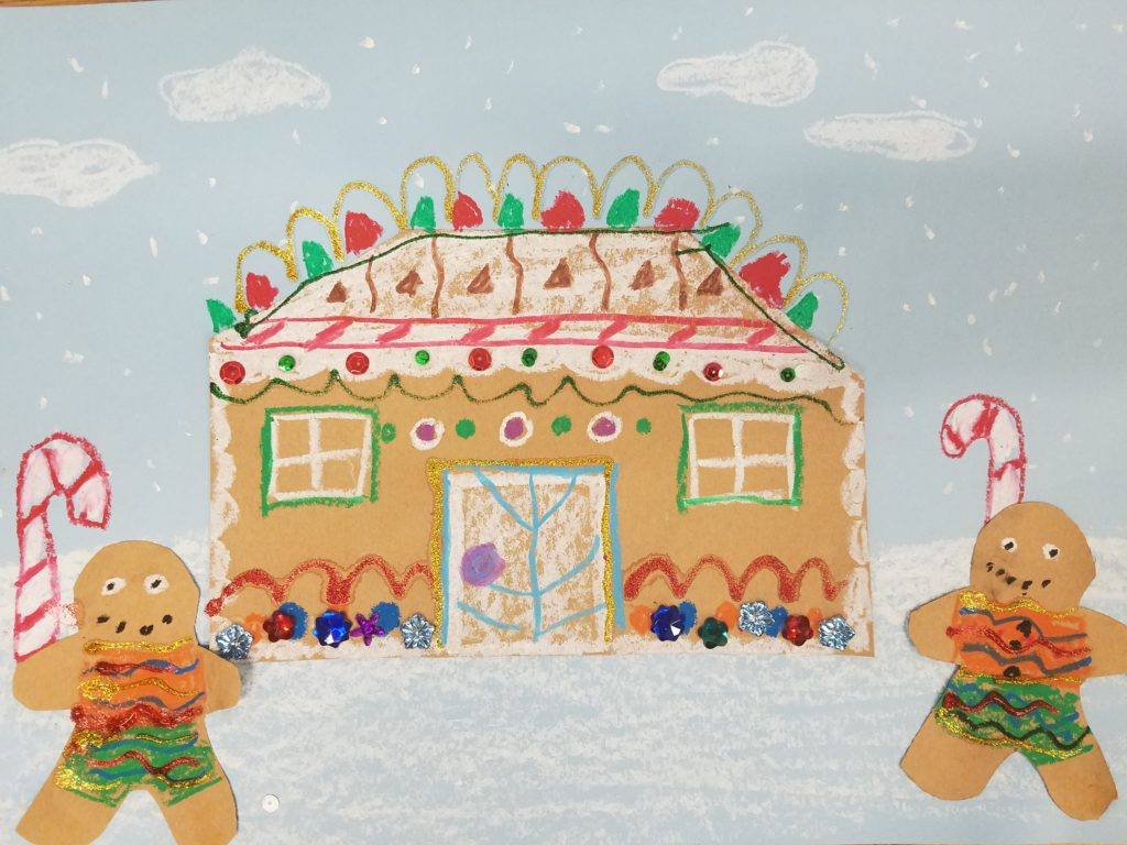 Winter Gingerbread crafts: A step by step tutorial on how to create an original mini stage with puppets for a retelling of the tale of the Gingerbread Man!