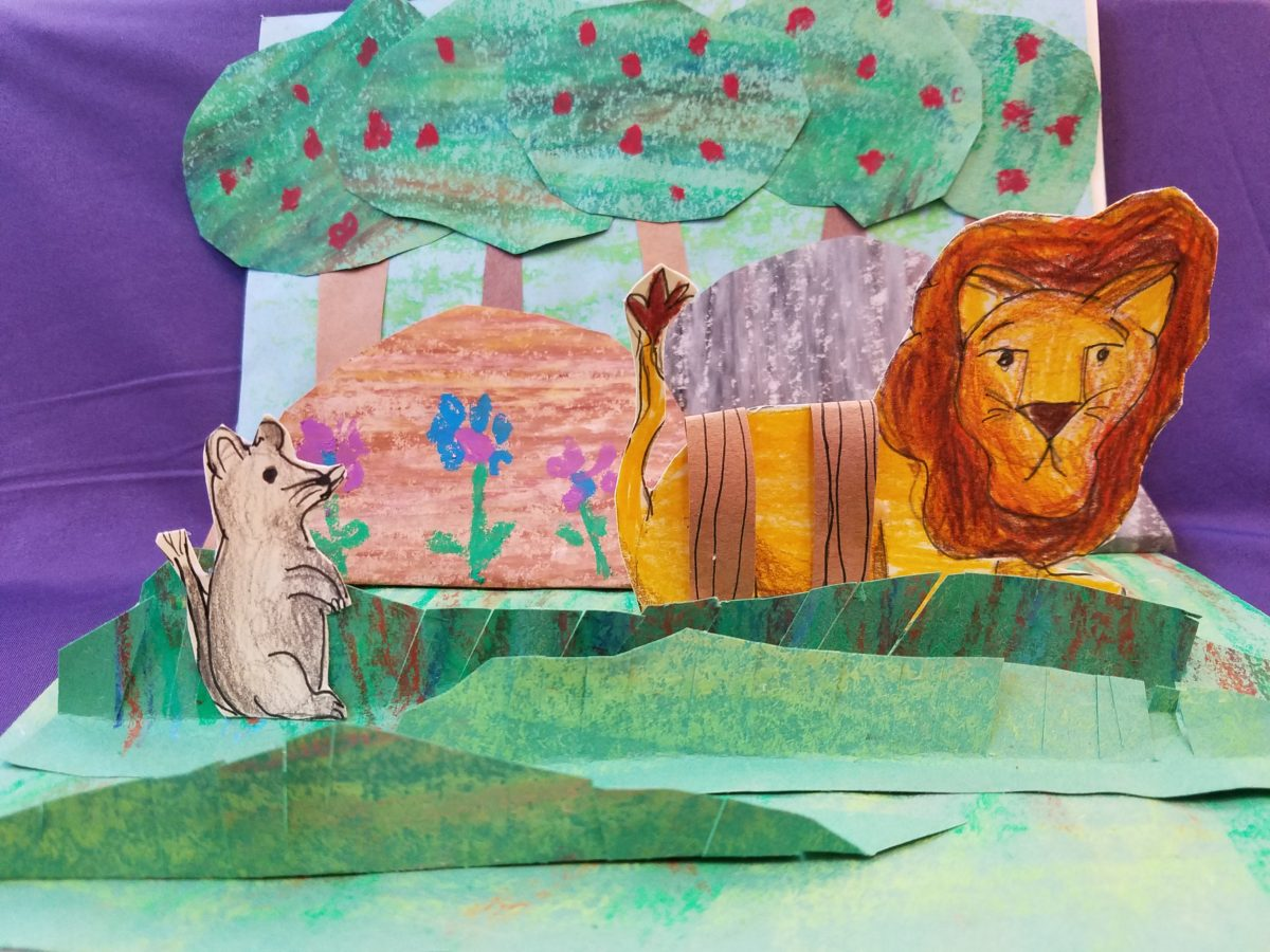 Easy Pop Up Story Art A Kids Literacy Craft The Painterly Path